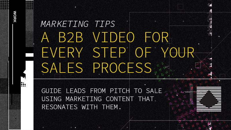 B2B marketing video categories for business development