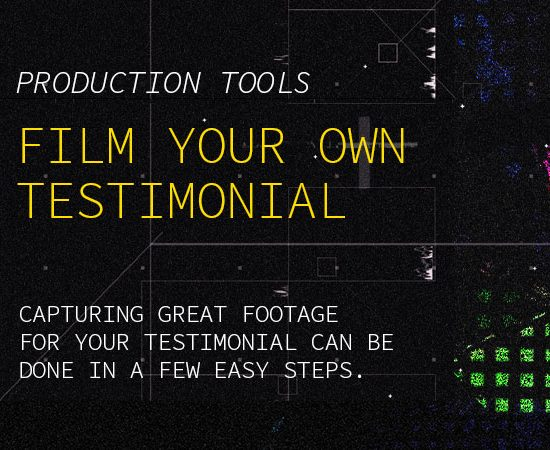 Tips to film your own testimonial