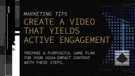 Creating Video Content in a few Essential Steps